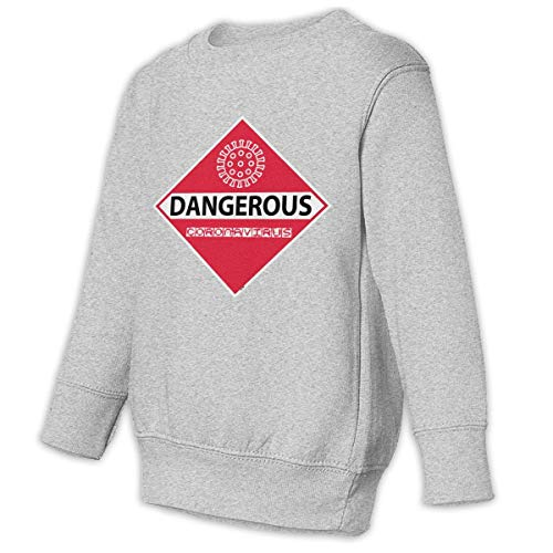 Unbrands Youth 2019 NCoV Dangerous Coronavirus Warning Cotton Sweatshirts Hoodies Without Pockets