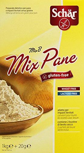 Mix Pane - Mix B Preparato per Pane e Impasti Lievitati senza Glutine 1020 G