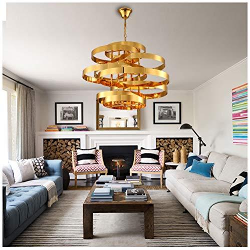 Niummiu kroonluchter, Nordic Creative Tornado hanger, licht, mode, hotel, plafond, woonkamerverlichting, ring, van smeedijzer - 05 kroonluchter