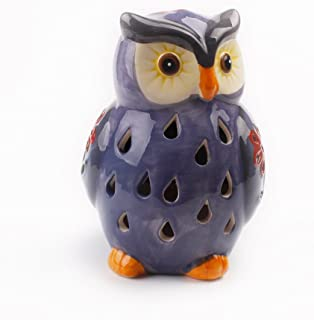 ASTRAEUS Animal Light Owl Decor Solar Led Owl Light for Park/Patio/Deck/Yard/Home/Pathway Light Purple