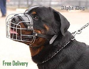 Panier métallique solide en métal Muselière pour chien Rottweiler, Mastiff, Golden Retriever, etc.