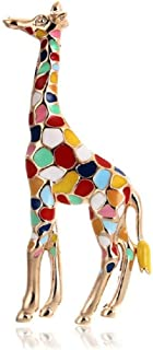 1PC Enamel Gold Color Cute Animal Giraffe Brooches for Women Brooch Pin Gift Brooches Lapel Pin