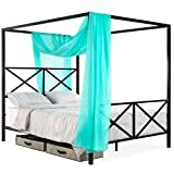 Best Choice Products 4-Post Queen Size Modern Metal...