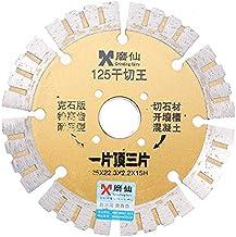 HELEISH Rectificadora Fairy 125x22.3mm Disco de corte en seco Hoja de sierra de diamante 2.2mm Herramienta rotativa de corte ultra fino Herramienta accesoria