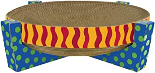 Petstages Easy Life Cat Scratcher and Hammock – Satisfies Kitty's Scratching Needs with Circular Scratchpad Ideal for a Snooze