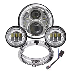 It's styles are different from others and only in the market! DOT, SAE, E-Mark approved, legal to drive on the road, shock resistant and waterproof design make sure work well in a variety of weather conditions. Super Bright: 4000LM high beam, 2800LM ...