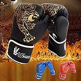 qianele Boxhandschuhe Kinder Leder Kickboxhandschuhe Taekwondo Sanda Kampf Männer Damen