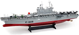 1: 350 Remote Control Boats, 2.4Ghz Simulated Aircraft Carrier RC Boat, Double Propeller Motor, Simulation Flight Deck, St...