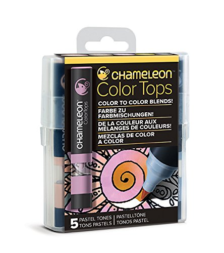 Chameleon Art Products - 5 Color Tops; Puntas de mezcla Chameleon; Tonos Pastel