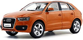 Car Model 1:18 / Compatible with Audi Q3 / Simulation Car Model Alloy Model Gift Collection Game (Color : Orange)
