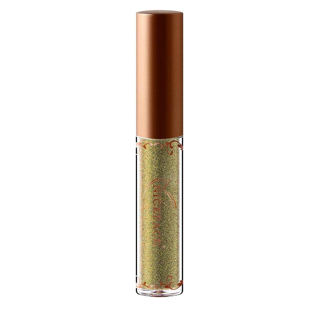 幾分ケーブルカー自分自身女性のメタリックな液体アイライナーシャイニーシャドーブライトピアスレインズグリッターダイヤモンドハイリキッドアイライナーメイクアップ化粧品(7#)