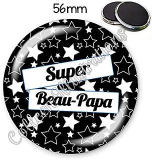 Magnet 56mm Super beau-papa aimant frigo id/ée cadeau anniversaire no/ël f/ête des p/ères