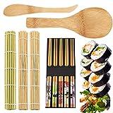 6PCS Kit para Hacer Sushi Bambu,Osuter Sushi Maker Durable Esterilla para Sushi Interesante para Principiante Profesional Amantes de la Comida