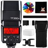 Godox TT350P Mini Cámara Flash 2.4G HSS 1 / 8000s TTL GN36 para Pentax Cámaras 645Z K3II K1 K50 KS2 K70 20 Filtro de Color