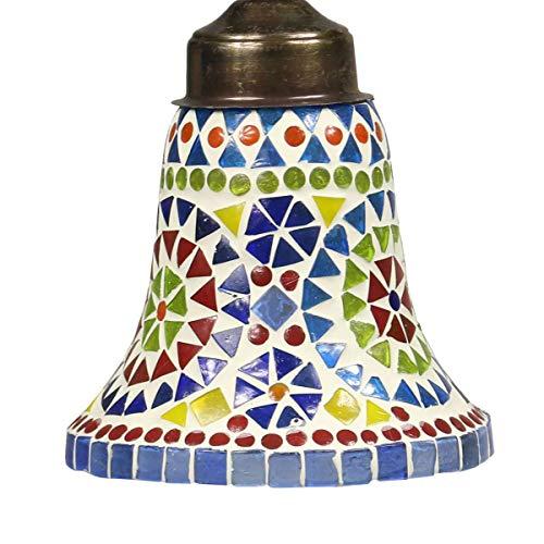 Hänge Mosaik Lampen Rund Orientalisch Dekoleuchte Wandleuchte Laterne Deckenleuchte Bunt Color 14cm ø Nr. 8,c