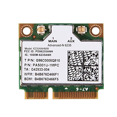 Archuu Wireless Network Card 2.4/ 5G Dual-Band Wifi Card 300 Mbps Network Card Mini PCI-E WIFI Card for Intel945/ 965/ GM45/ PM45 WiFi Adapter
