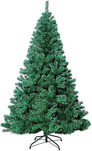 lpzsmd Árbol de Navidad Artificial arbol Navidad Adornos de decoración del hogar del árbol de Navidad Artificial del Soporte de Metal Plegable 0908(Color:Green;Size:180cm/6ft)