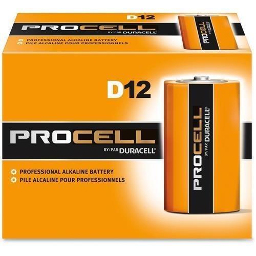 DURACELL PC1300 Duracell Alkaline Battery, D, 1.5V (Pack of 12)