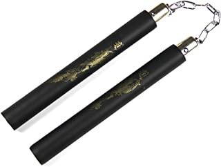 """Glield 10.5"""" Foam Padded Nunchaku with Stainless Steel Chain for Kid's Safe Practicing Training Play SJG02"""