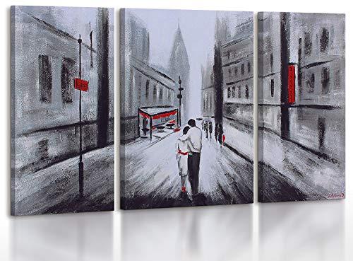 YS-Art | Cuadro Pintado Mano Un Amor | Cuadro Moderno