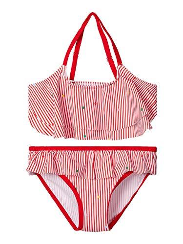 NAME IT Girl Bikini Gestreifter 146-152High Risk Red