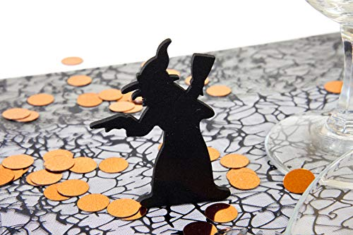 Visiodirect Lot de 2 Décorations sorcières Halloween - 6 x 3.5 cm