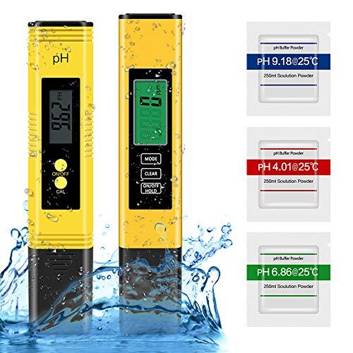 Molbory pH und TDS Messgerät, pH Tester für Wasserqualität mit LCD-Display, Monitor für Trinkwasser, Aquarium, Schwimmbad, Labor Wasser, Pool