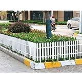 ZHANWEI Valla de jardín Bordura de jardín Interior Al Aire Libre PVC El Plastico Césped Protector Guardia Carril - Blanco 4 Tamaños (Color : 50x28cm, Size : 1 PC)