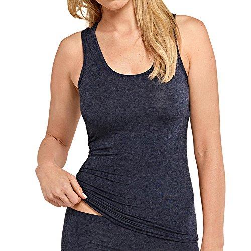Schiesser Damen Personal Fit Tank Top Unterhemd, Blau (Nachtblau 804), S