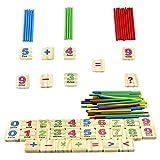 Elenxs Hierro Caja de Madera Matemáticas palillo Rompecabezas educación Juega el Juego Que aprende Calcular Contar Juguetes para bebés
