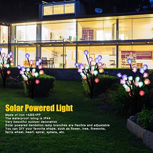 A sixx LED Solar Dandelion Lights Solar Garden Decorative Lights, Waterproof Energy-Saving Adjustable Multi-Scene Yard for Garden Sidewalk(IPL)