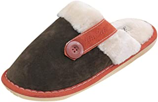 wensLTD Mens Soft Warm Indoor Cotton Slippers Home Anti-slip Shoes (L, Bronze)