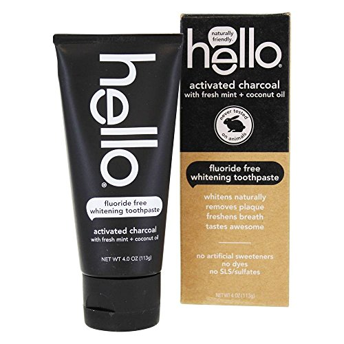 Hello Activated Charcoal Whitening Toothpaste (Pack of 36)