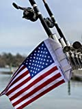 Fly a Flag American Flag, Designed to Attach to Rod Holders, Rocket Launcher, or Any Vertical Pole or Post