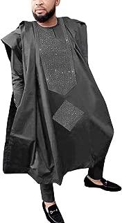 HD African Dresses for Man Fashion Boy Rhinestone-Studded Agbada