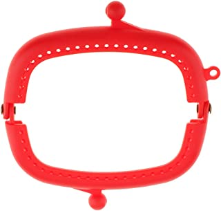 Prettyia Plastic Bag Coin Purse Arch Frame Kiss Clasp Lock With Hole DIY Handbag Clutches