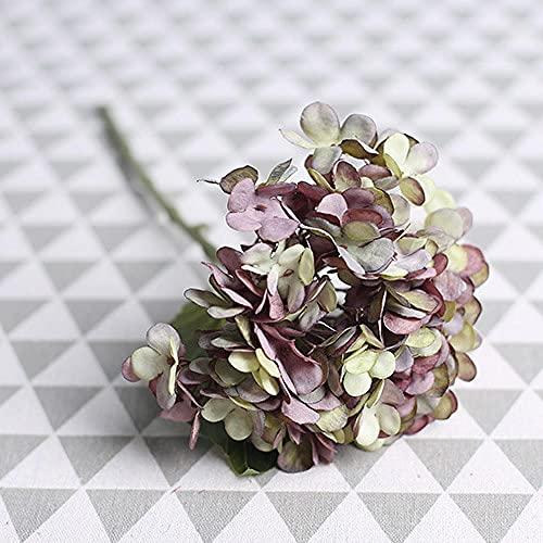 Sonze Flor de Bola de Lujo Ligera Flor Falsa, Flor Hecha a Mano de Boda-E_10Pcs,Flores Artificiales Decoracion jarrones,Resistentes a los Rayos Ultravioleta