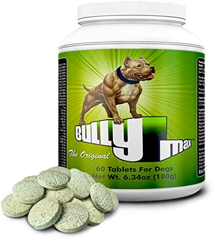 Bully Max The Ultimate Canine Supplement. Vet-Approved Muscle Builder for Dogs. for All Breeds & Ages (Puppies & Adults). Adds Muscle & Size. Boosts Growth.