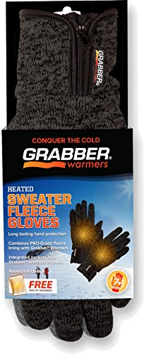 Heated Gloves, Gray, Large/X-Large
