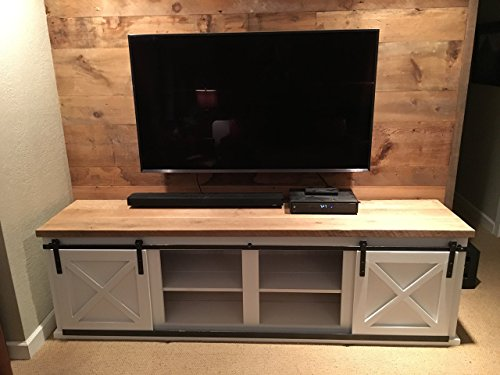 Reclaimed Wood Entertainment Center with Barn Style Sliding Doors | FREE SHIPPING