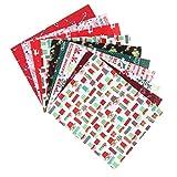 Healifty 10 Stücke Weihnachten Baumwolle Meterware