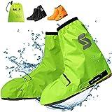 SPGOOD Überschuhe Fahrrad Wasserdicht rutschfest (Größe 36-46), mit reflektierenden Streifen Aufbewahrungstasche,für Männer und Frauen erhältlich