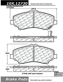 Max Brakes Rear Carbon Ceramic Performance Disc Brake Pads KT071152 Fits 2007-2015 Jeep Wangler