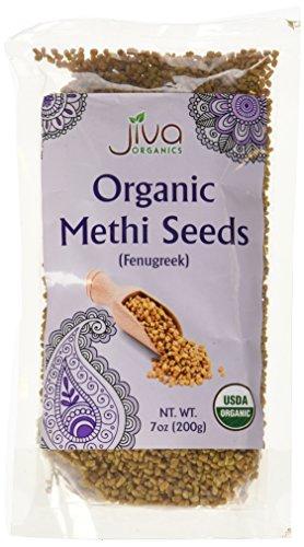 Jiva USDA Organic Fenugreek Whole Methi Seeds 7 Ounce  - Nearly 1/2 Pound