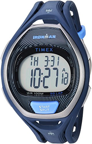 Timex Unisex TW5M17600 Ironman Sleek 50 Full-Size Blue/Black Resin Strap Watch