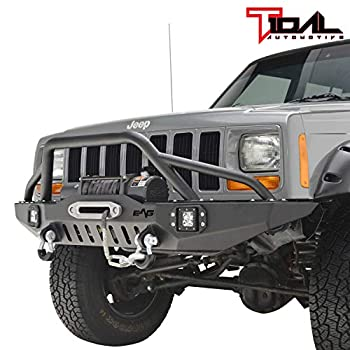 Tidal Off-road Front Bumper with LED Lights Fit for 84-01 Cherokee XJ/Comanche MJ
