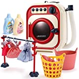 Toddler Cleaning Set-Toy Washing Machine-Play Washer and Dryer for Kids-Electronic Toy Washer with Realistic Sounds and Functions, Pretend Role Play Appliance Toys for Toddlers