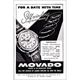 RelicPaper 1952 Movado: for a Date with Time, Movado Print Ad
