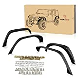 xrc fender flares jk - YITAMOTOR Steel Fender Flares Kit Compatible for 2007-2018 Jeep Wrangler Unlimited JK (2/4 Doors), Heavy-duty Off Road Style Front Rear Flat, 4 Pack