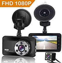ORSKEY Dash Cam Front and Rear 1080P Full HD Dual Dash Camera in Car Camera Dashboard Camera Dashcam for Cars 170 Wide Angle with 3.0